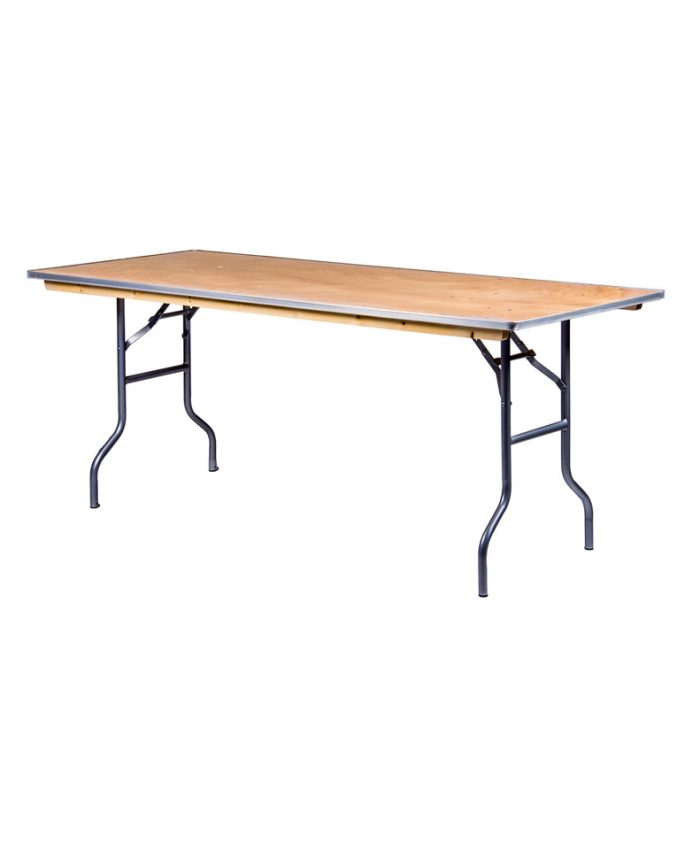 6 foot folding table Eventos Party Rentals